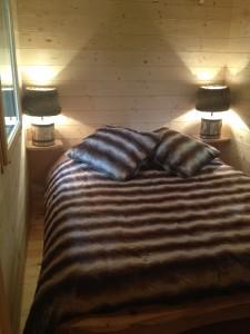 chambre double de la cabane de la clairière