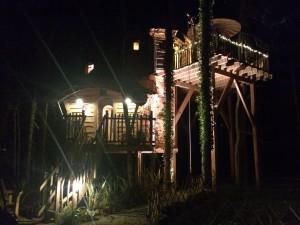 Cabane de la clairière de nuit