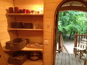 cuisine de la cabane de la clairière