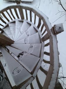 Traces de pas dans la neige