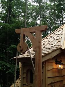 toiture de la cabane de la clairière